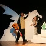 Teatrino dei fondi la principessa e il drago